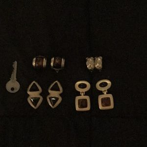 Jewelry - 4 costume clip on earrings.